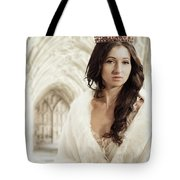 Woman Wearing Crown Tote Bag