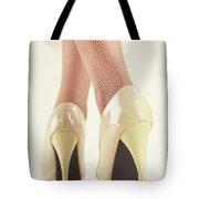 Woman Wearing High Heel Shoes Tote Bag