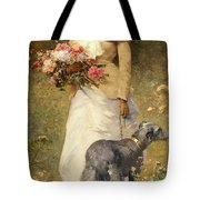 Woman With A Dog Tote Bag