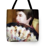 Woman With A Fan Tote Bag