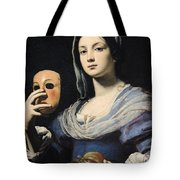 Woman With A Mask Tote Bag