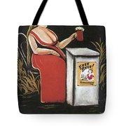 Woman With A Mug Of Beer Tote Bag