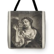 Woman With A Rose Tote Bag