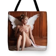 Woman With Angel Wings Tote Bag