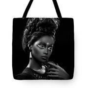 Woman With Beehive Hairstyle And Jewelry Headdress Owner Tote Bag
