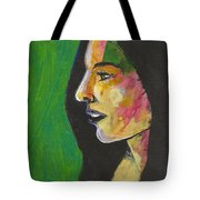 Woman With Black Lipstick Tote Bag