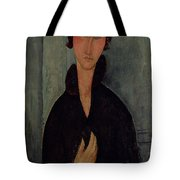 Woman With Blue Eyes Tote Bag by Amedeo Modigliani