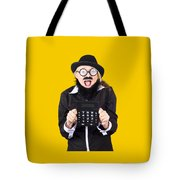 Woman With Electronic Calculator Tote Bag