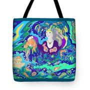 Woman With Fish Tote Bag