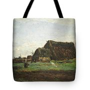 Woman With Goat Tote Bag