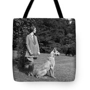 Woman With Great Dane, C.1920-30s Tote Bag