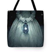 Woman With Lantern Tote Bag