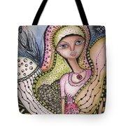 Woman With Large Eyes Tote Bag by Prerna Poojara