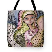 Woman With Large Eyes Tote Bag