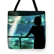 Woman With Leopard Shark Tote Bag