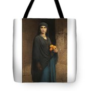 Woman With Oranges Tote Bag