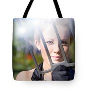 Woman With Pitchfork Tote Bag