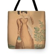 Woman With Plumed Hat Tote Bag
