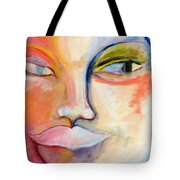 Woman With  Secret Tote Bag