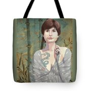 Woman With Tattoo Tote Bag