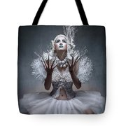 Woman With Twigs For Nails Tote Bag