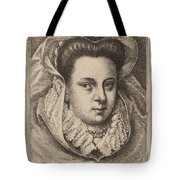 Woman With White Veil And Black Hat (mary Stuart?) Tote Bag