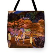 Women And White Horse 1903 Tote Bag