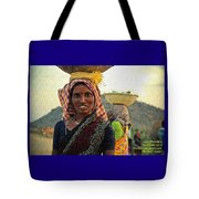 Women Carrying Goods On Their Heads H A Nv Tote Bag