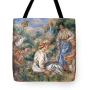 Women In A Landscape Tote Bag