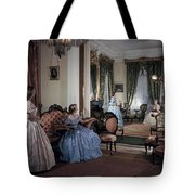 Women In Period Costumes Sit In An Tote Bag