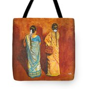 Women In Sarees Tote Bag