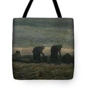 Women On The Peat Moor Nieuw Amsterdam, October 1883 Vincent Van Gogh 1853 - 1890 Tote Bag