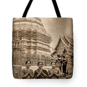 Women Praying Tote Bag