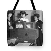 Women Voting In New York City Tote Bag