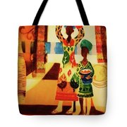 Women With Baskets Tote Bag