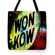 Won Kow, Wow 3 Tote Bag by Marianne Dow