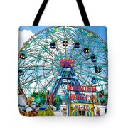 Wonder Wheel Amusement Park 6 Tote Bag