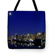 Wonderful Autumn Night In Port Vancouver Tote Bag