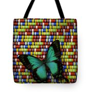 Wonderful Green Butterfly Tote Bag