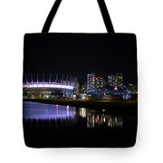 Wonderful Night Of False Creek View With Bc Place. Tote Bag