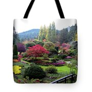 Wonderful Sunken Garden In The Butchart Gardens,victoria,canada 1. Tote Bag