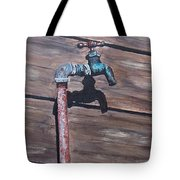 Wood And Metal Tote Bag