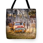Wood And Rust Tote Bag