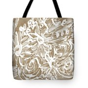 Wood And White Floral- Art By Linda Woods Tote Bag