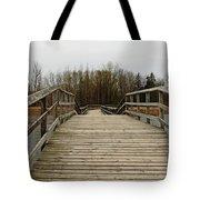 Wood Boardwalk At Valens Tote Bag