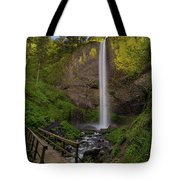 Wood Bridge At Latourell Falls Tote Bag