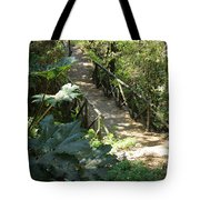 Wood Bridge On A Trail Tote Bag