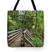 Wood Bridge Over Butte Creek Tote Bag
