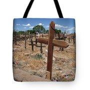 Wood Crosses In Taos Cemetery Tote Bag