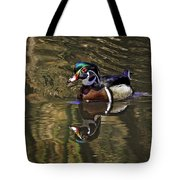 Wood Duck Autumn Reflections Tote Bag